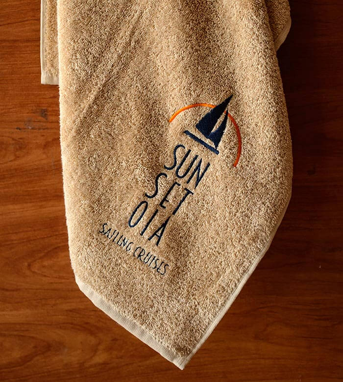 Swimming Pool embroidered towel